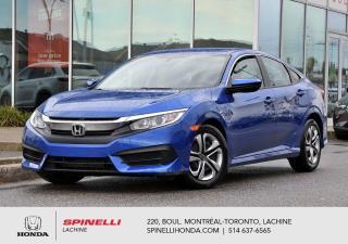 Used 2017 Honda Civic LX SEDAN AUTO AUTO AC APPLE CARPLAY BLUETOOTH CAM RECUL++ for sale in Lachine, QC