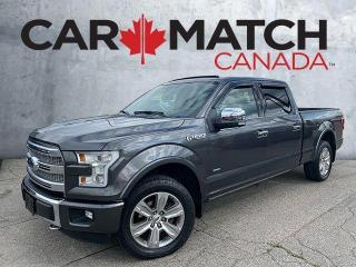Used 2016 Ford F-150 PLATINUM / SUPERCREW / LOADED / NO ACCIDENTS for sale in Cambridge, ON