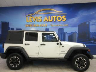 Used 2010 Jeep Wrangler 4X4 UNLIMITED SPORT 2 TOITS BEAU LOOK for sale in Lévis, QC