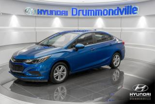 Used 2016 Chevrolet Cruze LT + GARANTIE + CAMERA + A/C + CRUSE + for sale in Drummondville, QC