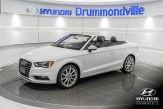 Used 2016 Audi A3 PROGRESSIV + GARNTIE + NAVI + CUIR + WOW for sale in Drummondville, QC