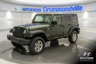 Used 2009 Jeep Wrangler RUBICON UNLIMITED 4X4 + GARANTIE + A/C for sale in Drummondville, QC
