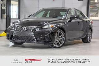 Used 2014 Lexus IS 350 F SPORT III AWD; CUIR TOIT GPS ANGLES MORT AUDIO INTÉRIEUR ROUGE - NAVIGATION - MONITEUR ANGLES MORT - PRÉ COLLISION - AUDIO PREMIUM MARK LEVINSON for sale in Lachine, QC