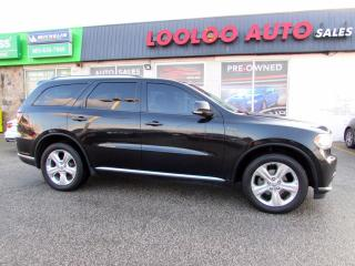 Used 2015 Dodge Durango Limited AWD Navigating Sunroof DVD Certified for sale in Milton, ON