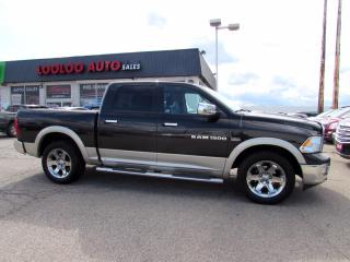 Used 2011 Dodge Ram 1500 Laramie Crew Cab 4WD 5.7L Hemi Leather Bluetooth Certified for sale in Milton, ON