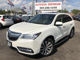 Used 2016 Acura MDX SH-AWD TECH PKG Navi/Camera/Lane Keeping/Collision Warning for sale in Mississauga, ON