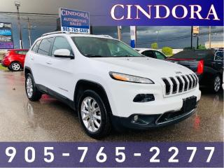 Used 2015 Jeep Cherokee Limited, AWD, Nav, Roof, Leather for sale in Caledonia, ON