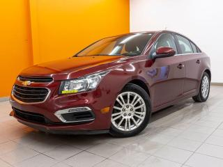 Used 2015 Chevrolet Cruze ECO CAMÉRA RECUL ÉCRAN TACTILE BLUETOOTH *BAS KM* for sale in St-Jérôme, QC