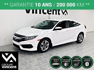 Used 2016 Honda Civic LX **GARANTIE 10 ANS ** Une Civic récente à bon prix! for sale in Shawinigan, QC