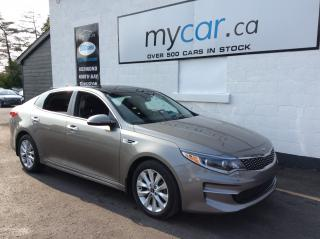 Used 2016 Kia Optima EX LEATHER, SUNROOF, HEATED PWR SEAT, BACKUP CAM!! for sale in Kingston, ON