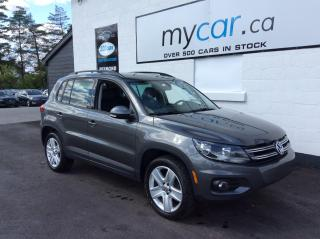 Used 2016 Volkswagen Tiguan Comfortline LEATHER, PANOROOF, HEATED SEATS, BACKUP CAM!! for sale in North Bay, ON