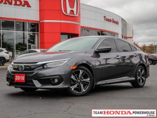 Used 2016 Honda Civic Touring--1 Owner--Navigation--Leather--Heated Seats for sale in Milton, ON