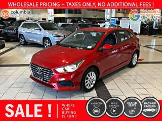Used 2019 Hyundai Accent Preferred - Accident Free / Local / No Dealer Fees for sale in Richmond, BC