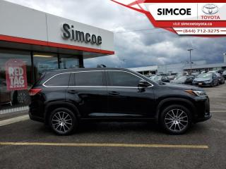 Used 2018 Toyota Highlander XLE AWD  - Certified - Navigation - $290 B/W for sale in Simcoe, ON