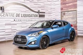 Used 2016 Hyundai Veloster Rally Edition+CAM/RECUL+CUIR +SIEG/VOLANT/CHAUFF for sale in Laval, QC