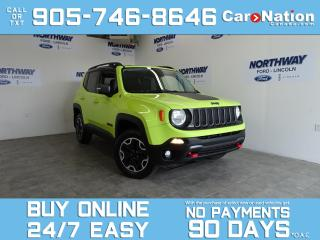 Used 2017 Jeep Renegade TRAILHAWK | 4X4 | REAR CAM | COLD WEATHER GROUP for sale in Brantford, ON