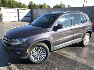 Used 2016 Volkswagen Tiguan COMFORTLINE 2WD for sale in Cayuga, ON