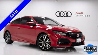 Used 2019 Honda Civic Si Coupe *Low KM - Local Trade- Accident-Free* for sale in Winnipeg, MB