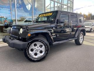 Used 2014 Jeep Wrangler SAHARA , 4X4 , A/C , CRUISE , ÉCRAN TACT for sale in Ste-Agathe-des-Monts, QC