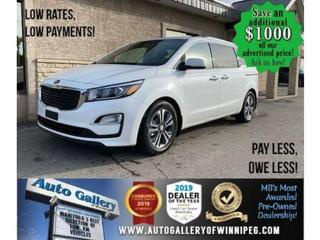 Used 2019 Kia Sedona SX* R air/Htd seats/Roof/8 Pass for sale in Winnipeg, MB