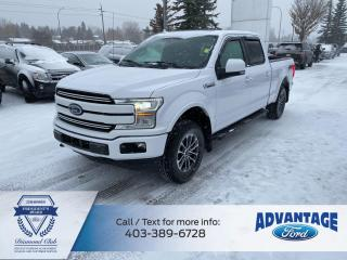 Used 2018 Ford F-150 Lariat LONG BOX • LARIAT SPORT PACK • NAVIGATION • 2ND ROW HEATED SEATS • HEATED STEERING WHEEL for sale in Calgary, AB