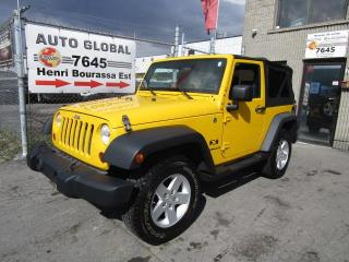 Used 2008 Jeep Wrangler 4 RM 2 portes X for sale in Montréal, QC