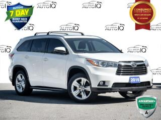 Used 2016 Toyota Highlander Limited Only 72,000 Km's | CLEAN CARFAX | NAVIGATION SYSTEM for sale in St Catharines, ON