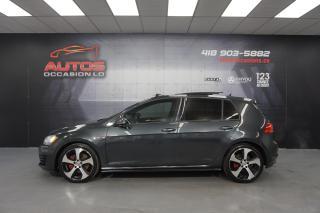 Used 2015 Volkswagen Golf GTI GTI AUTOBAHN DSG AUTO + CUIR GPS NAV + TOIT PANO for sale in Lévis, QC