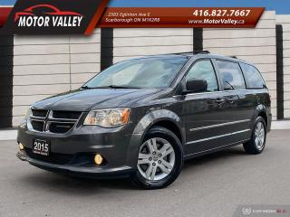 Used 2015 Dodge Grand Caravan Crew Plus NAVIGATION - LEATHER LOADED! for sale in Scarborough, ON