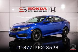 Used 2017 Honda Civic LX + A/C + MANUELLE + CAMERA + WOW! for sale in St-Basile-le-Grand, QC