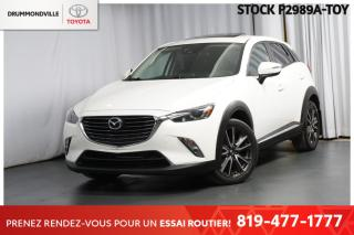 Used 2016 Mazda CX-3 GT   ** BLANC / INTÉRIEUR ACCENTS ROUGES ** for sale in Drummondville, QC