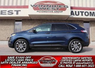 Used 2017 Ford Edge TITANIUM AWD, PAN ROOF, NAV, BLIND SPOT &  MORE! for sale in Headingley, MB