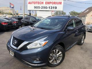 Used 2016 Nissan Murano SV TECH AWD Navi/Camera/Sunroof/Heated Seats&Steering for sale in Mississauga, ON