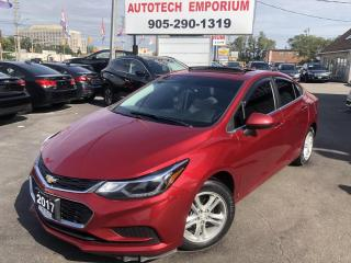 Used 2017 Chevrolet Cruze LT Auto Navigation/Camera/Sunroof/Alloys/BT for sale in Mississauga, ON