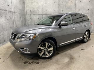 Used 2015 Nissan Pathfinder PLATINUM AWD CUIR TV/DVD TOIT OUVRANT GPS CAMERA for sale in St-Nicolas, QC
