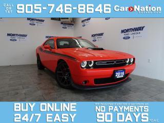 Used 2016 Dodge Challenger R/T | LEATHER | NAV | HURST SHIFTER | SHAKER PKG for sale in Brantford, ON