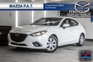 Used 2016 Mazda MAZDA3 AUTOMATIQUE,CAMÉRA DE RECUL,BLUETOOTH,BAS KM for sale in Montréal, QC