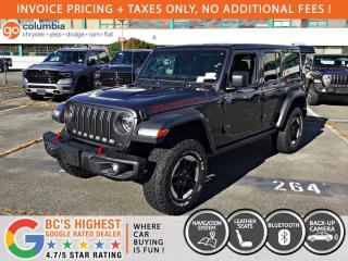 New 2021 Jeep Wrangler Rubicon 4dr 4WD Sport Utility for sale in Richmond, BC
