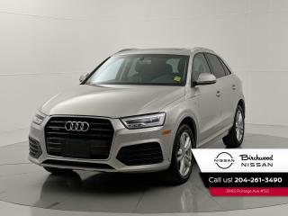 Used 2016 Audi Q3 Technik AWD | Panoramic Sunroof | No Accident for sale in Winnipeg, MB