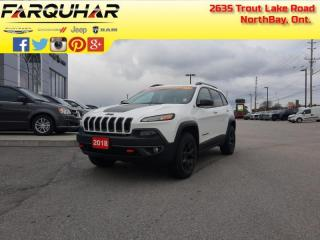 Used 2018 Jeep Cherokee Trailhawk Leather Plus - Sunroof - $201 B/W for sale in North Bay, ON