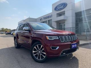 Used 2018 Jeep Grand Cherokee Overland AWD/Leather/Navi/Roof for sale in St Thomas, ON