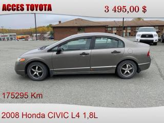 Used 2008 Honda Civic AUTOMATIQUE for sale in Rouyn-Noranda, QC