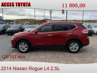 Used 2014 Nissan Rogue AWD SV for sale in Rouyn-Noranda, QC