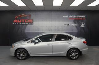 Used 2013 Honda Civic LX MANUEL MAGS RTX SIEGES BLUETOOTH 89 119 KM !! for sale in Lévis, QC