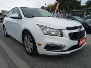 Used 2015 Chevrolet Cruze DIESEL-EXTRA CLEAN-LEATHER-BK UP CAM-BLUETOOTH-AUX for sale in Scarborough, ON