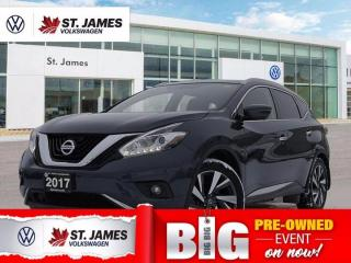 Used 2017 Nissan Murano Platinum, Clean Carfax, Push to Start, Backup Camera for sale in Winnipeg, MB