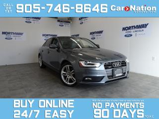 Used 2013 Audi A4 PREMIUM | AWD | NAV | ROOF | LEATHER | ONLY 39 KM! for sale in Brantford, ON