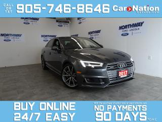 Used 2017 Audi A4 TECHNIK | S LINE | QUATTRO | ROOF | LEATHER | NAV for sale in Brantford, ON
