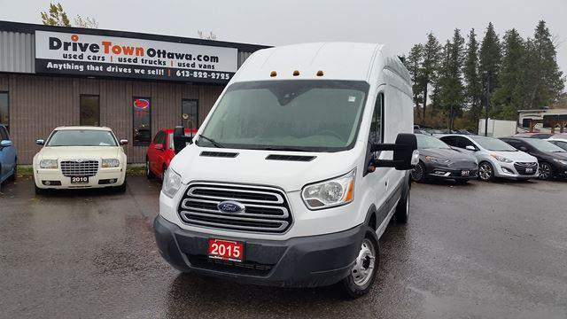 2015 Ford Transit Cargo Van 350HD-EXTENDED CARGO BOX-HIGH TOP-DIESEL-DRW