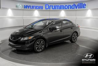 Used 2015 Honda Civic EX + GARANTIE + TOIT + CAMERA + A/C + WO for sale in Drummondville, QC